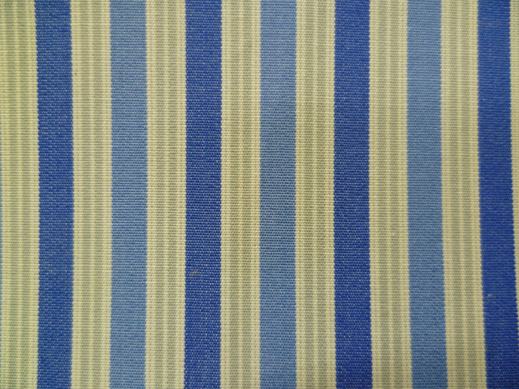 Ocean Blue, Stone Grey, Cornflower Blue and White Multi-striped Cotton