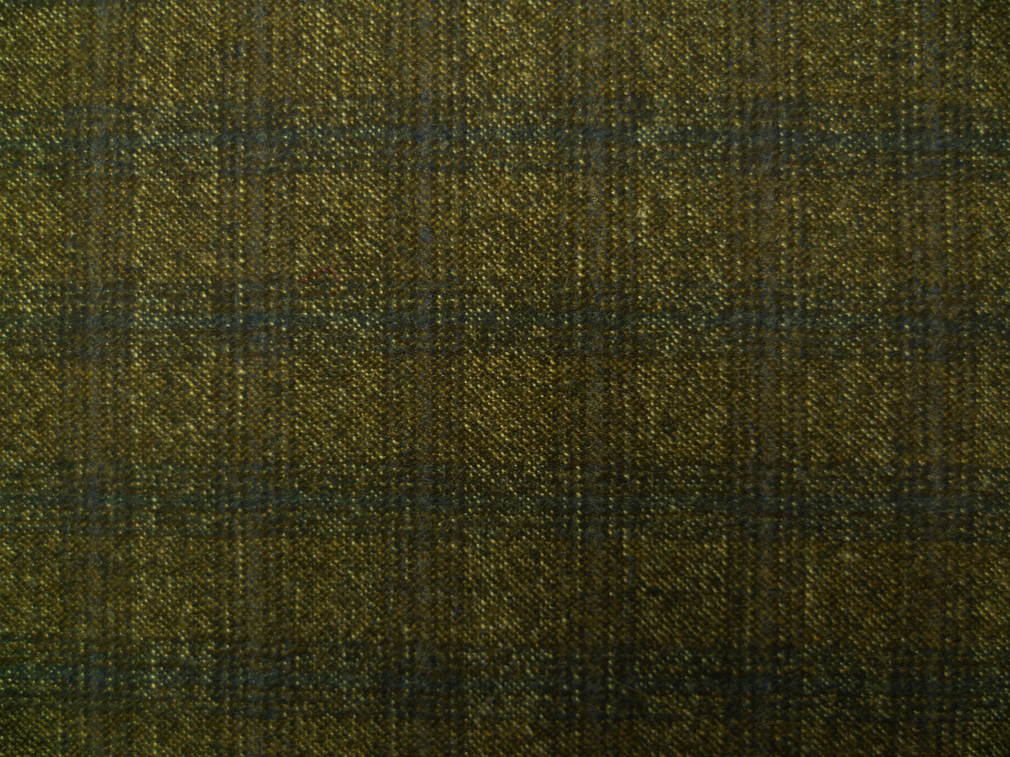Mixed Brown Loden, Grey and Blue Overchecked Wool