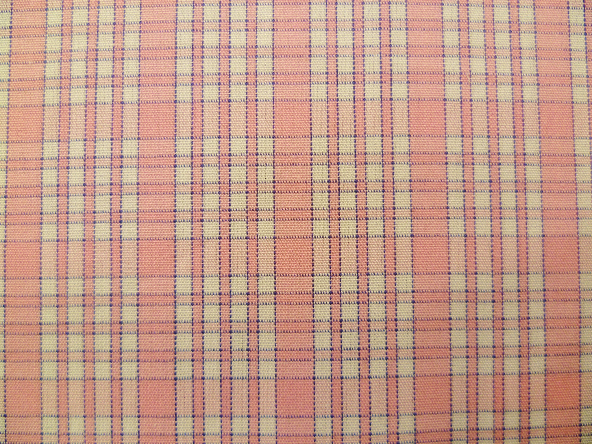 Soft Pink, Dark Purple and White Checked Cotton