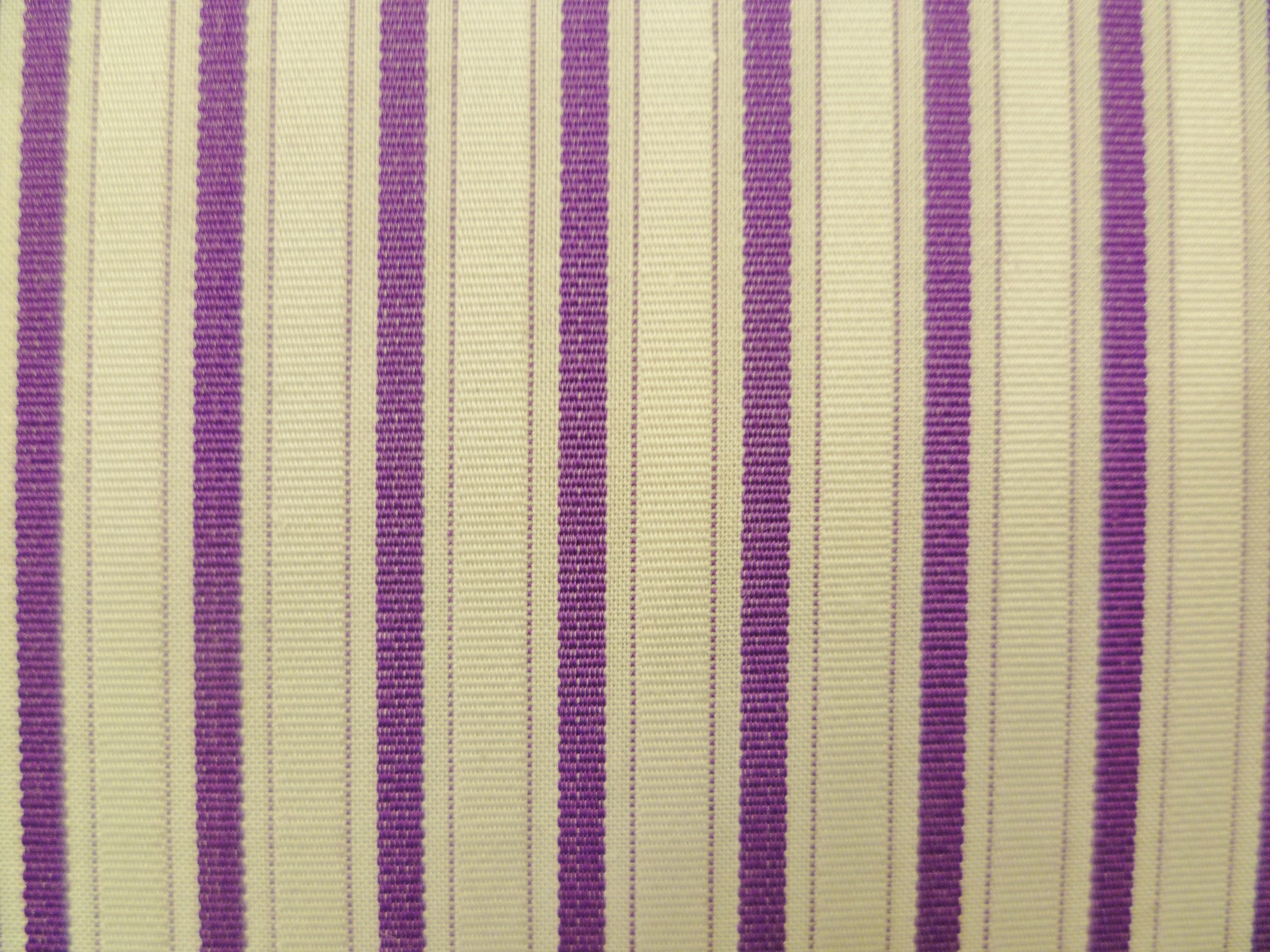 Royal Purple and White Textured Striped Cotton