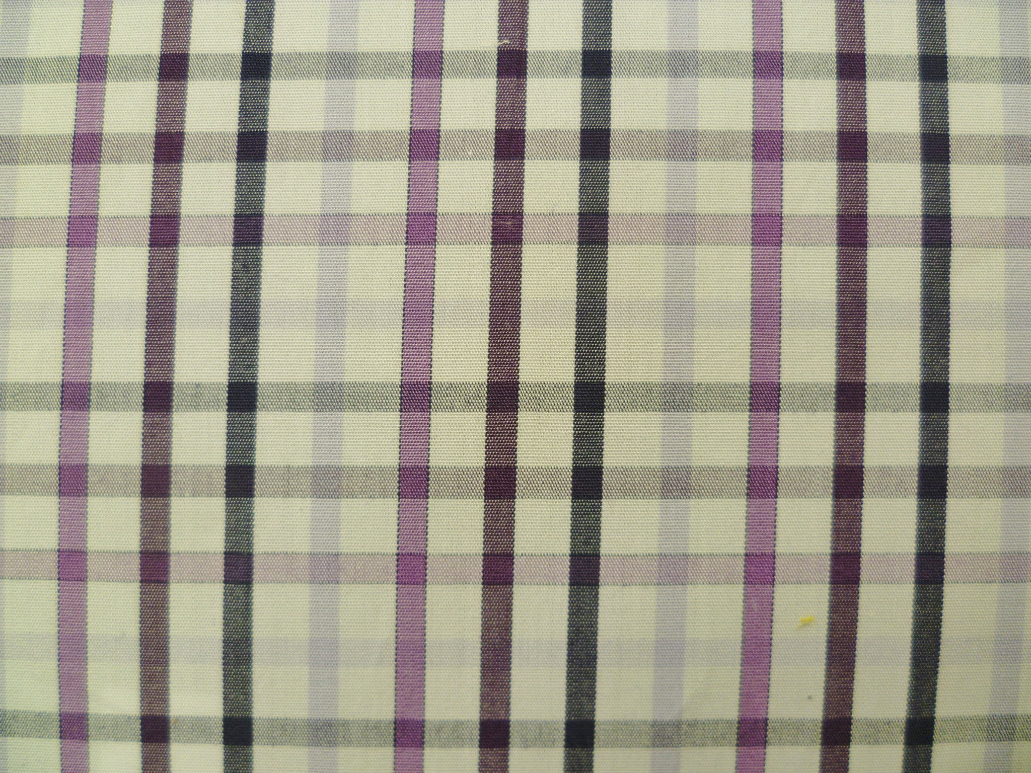 Plum, Lavender, Dark Plum and White and White Checked Cotton