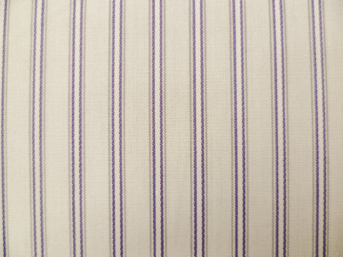 White, Royal Purple and Grey Striped Cotton