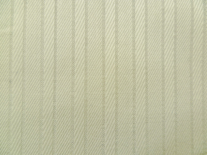 White and White Textured Twill Striped Cotton