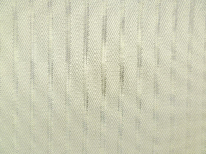 White Herringbone Striped Cotton