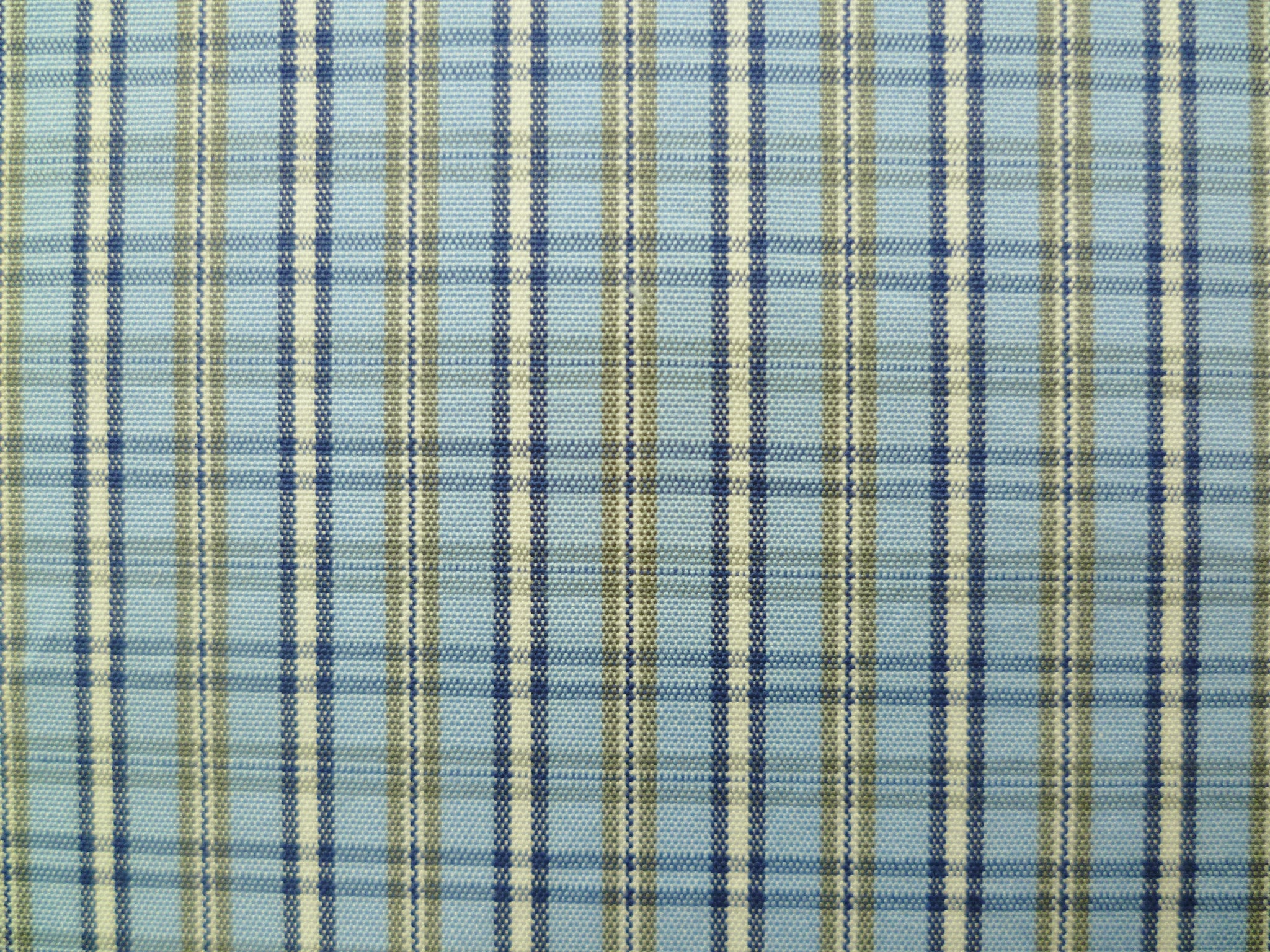 Navy, Baby Blue, Cement Grey and White Checked Cotton