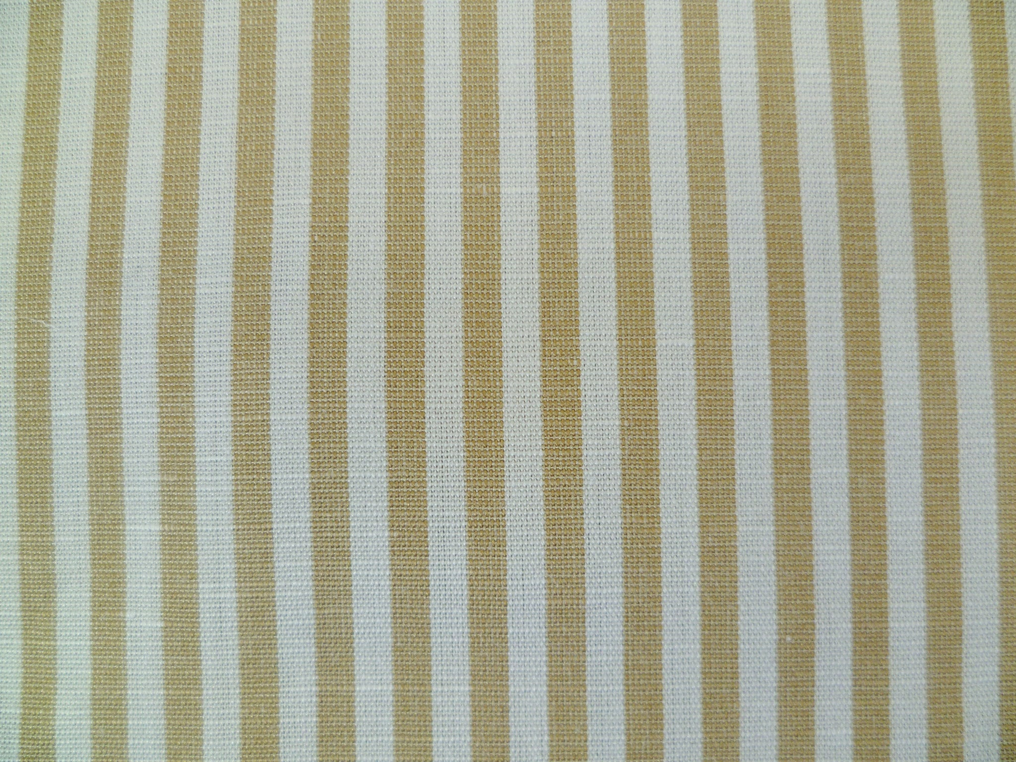 Taupe and White Cotton-Linen Stripe