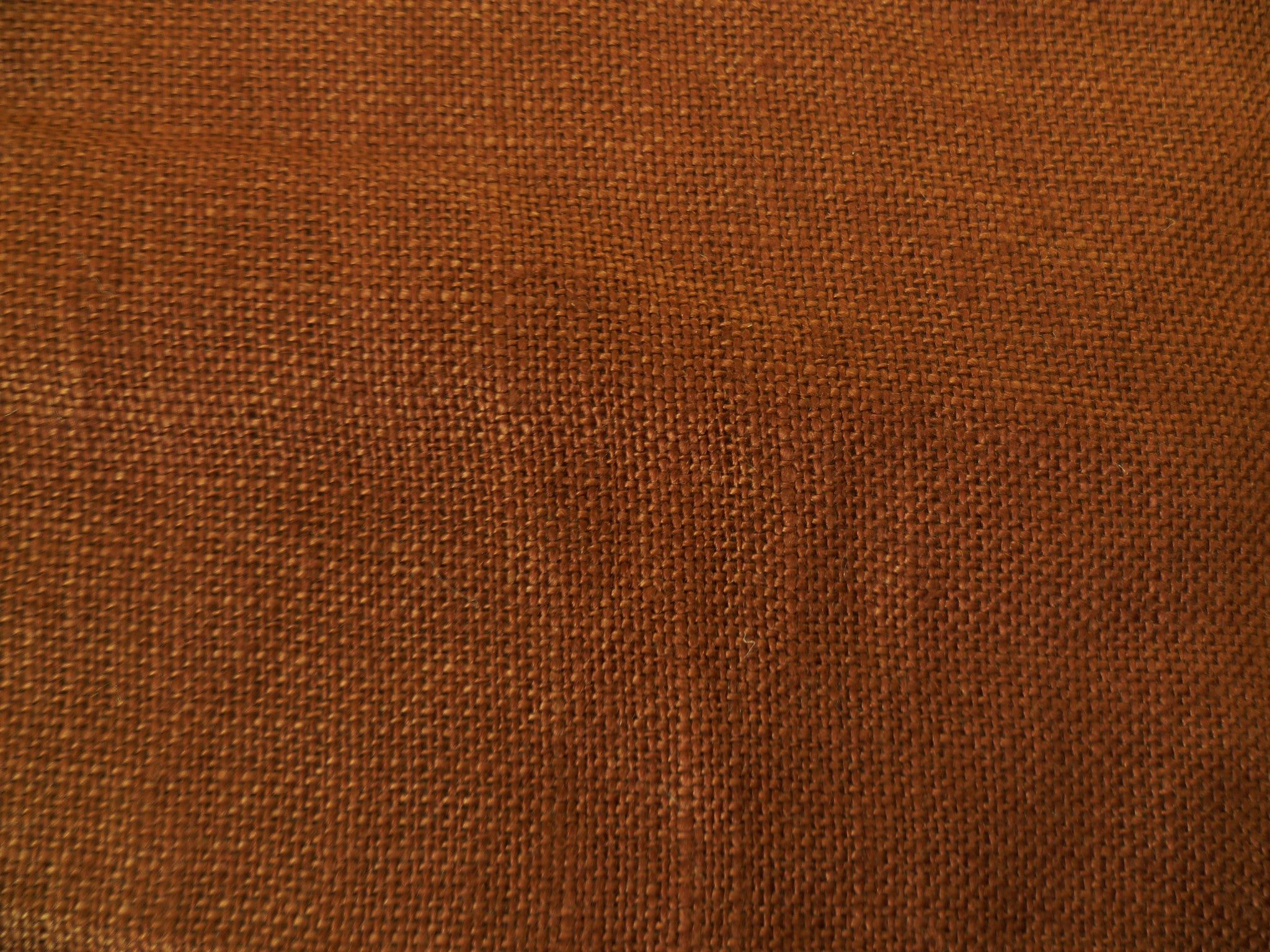 Terracotta ,Plain Weave Linen  With a 53 inch width