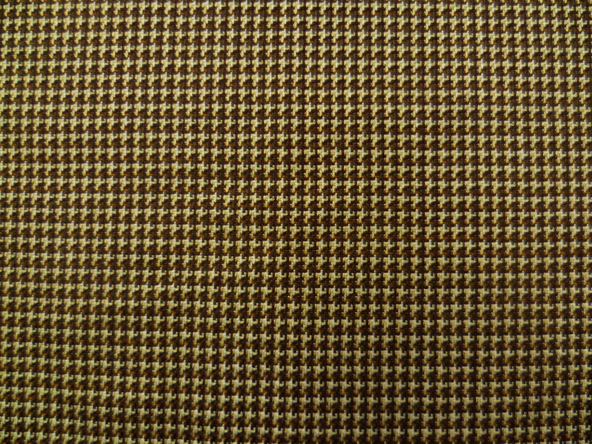Mixed Brown, Beige and White Neatcheck Patterned Wool-Silk         special price