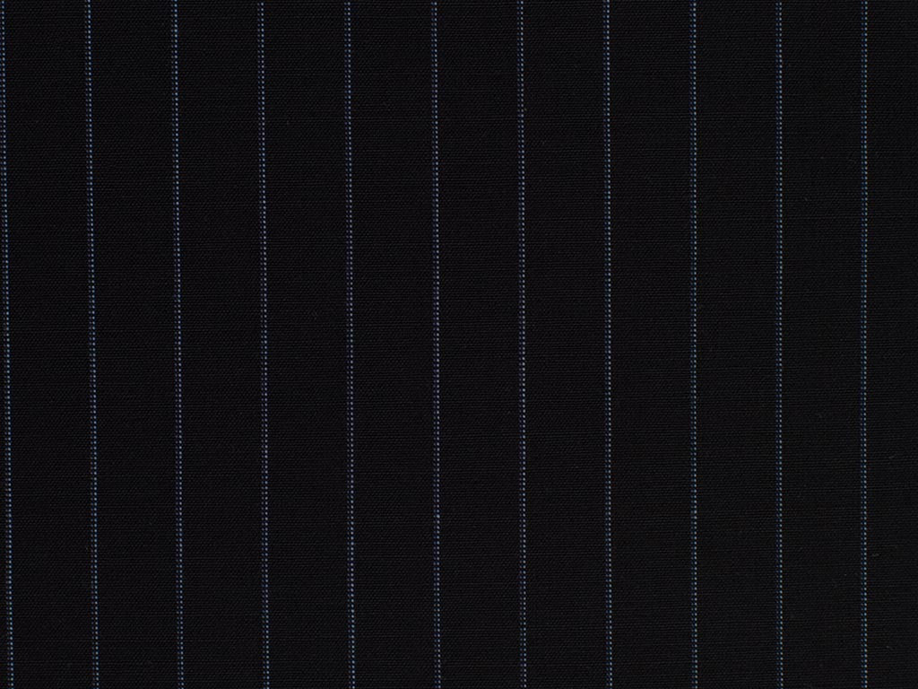 Navy Blue and Powder Blue Striped Wool Worsted