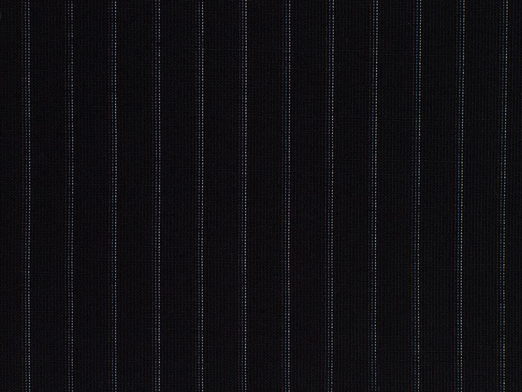 Navy, Burgundy, Blue, and White Broken Striped Wool Worsted