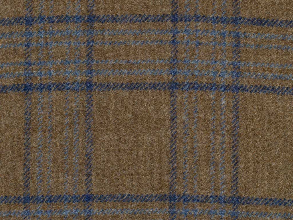 Taupe and Blue Overchecked Cashmere