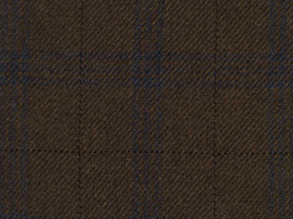 Tobacco and Blue Overchecked Cashmere