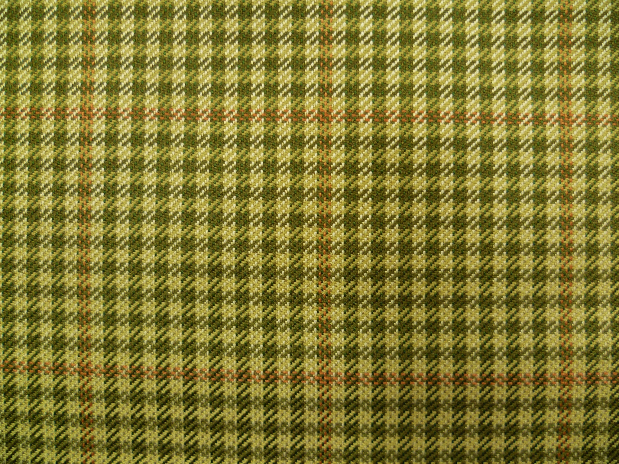 Mixed Green, White and Salmon Checked Wool-Cashmere     Spectactular Price For new arrivals.