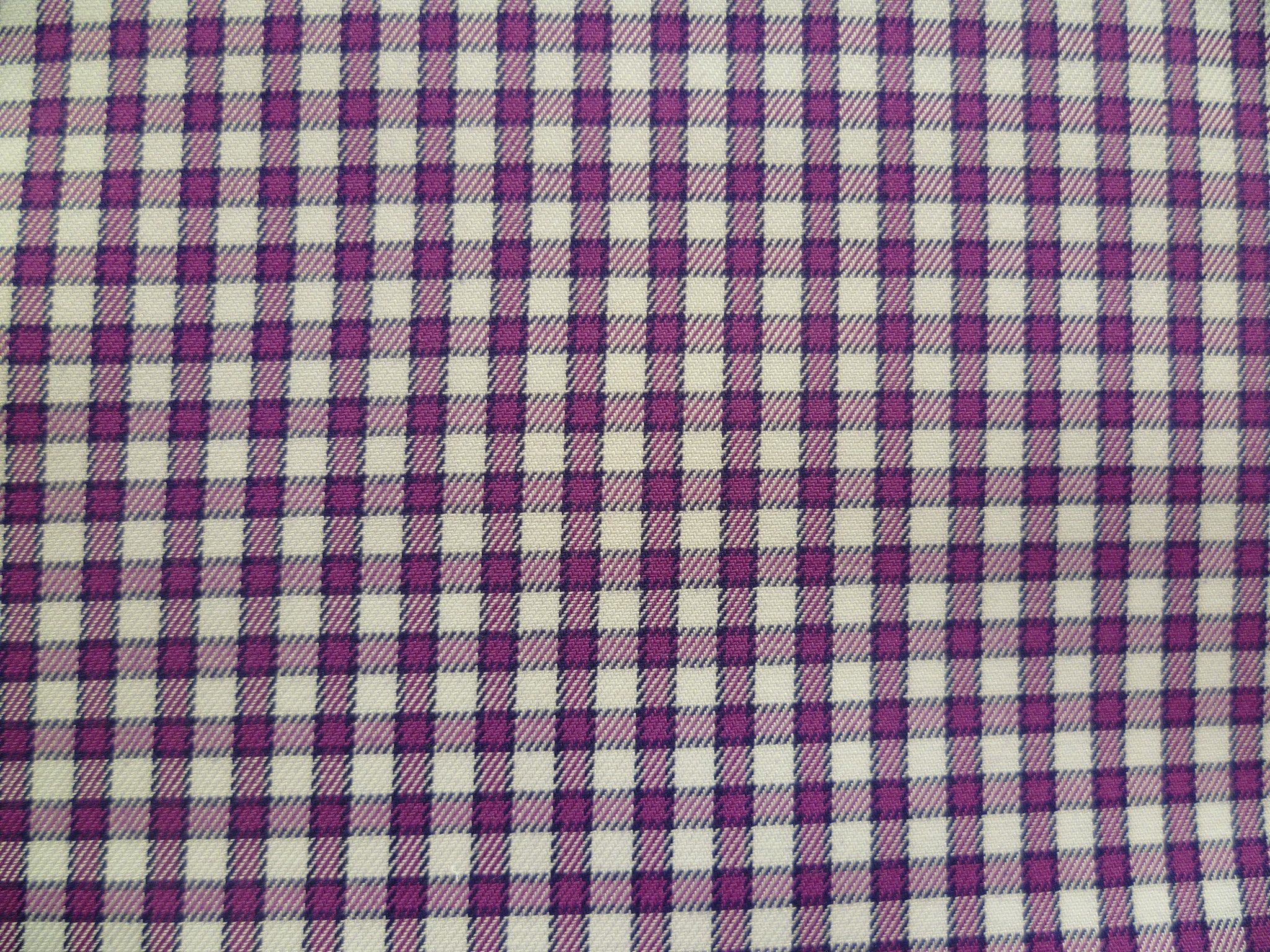 Purple And White gingham check