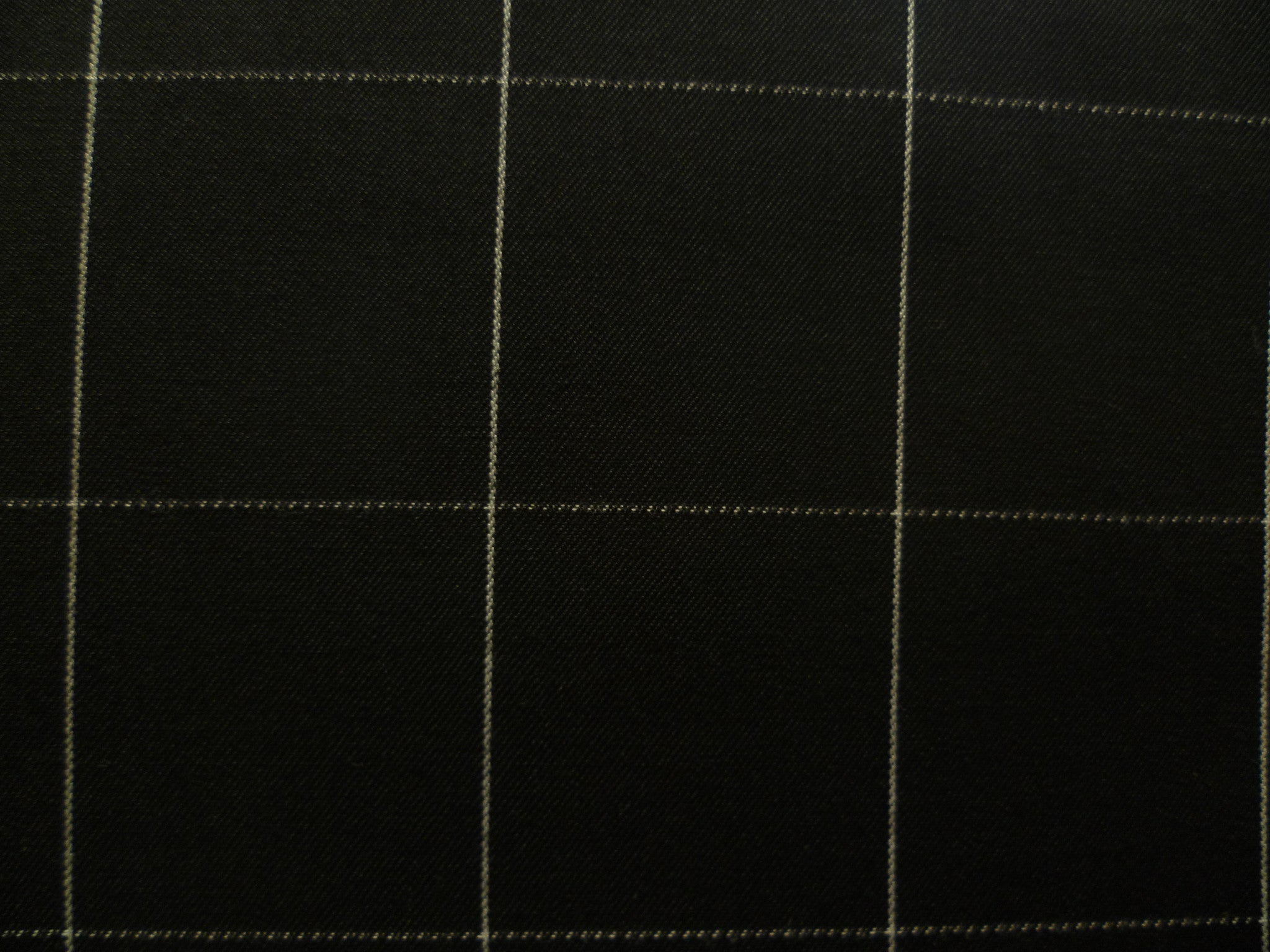 White Chalk Stripe Window Pane On  Black Background
