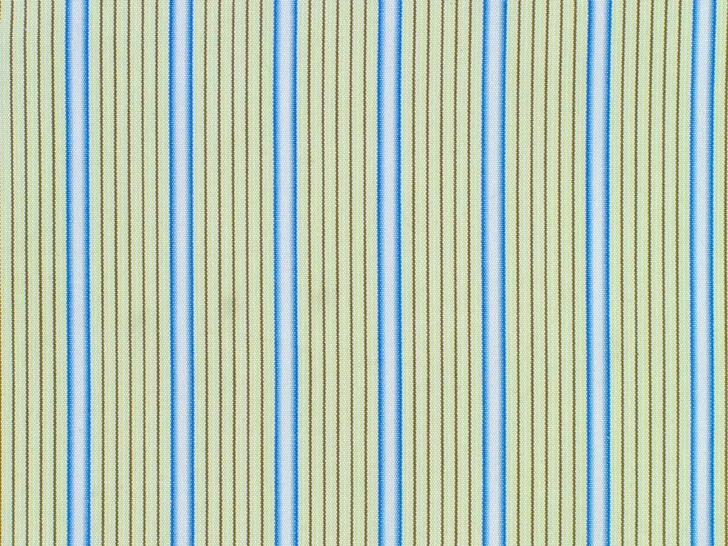 Sage, Blue, White, and Brown Striped Cotton