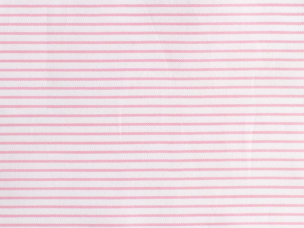 Satin Pink and White Striped Cotton