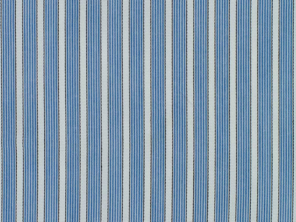White, Blue, and Black Striped Cotton