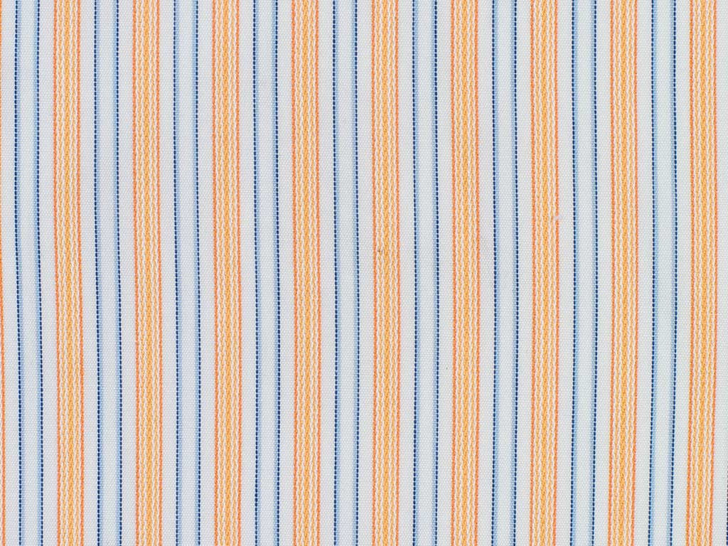 White, Blue, and Orange Striped Cotton
