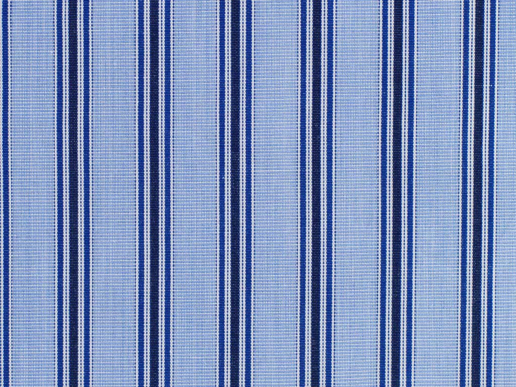 Steel Blue, Navy, Royal Blue, and White Striped Cotton