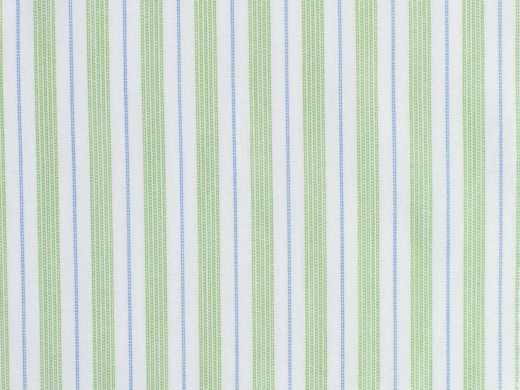 White, Green, and Blue Striped Cotton. From Italy.