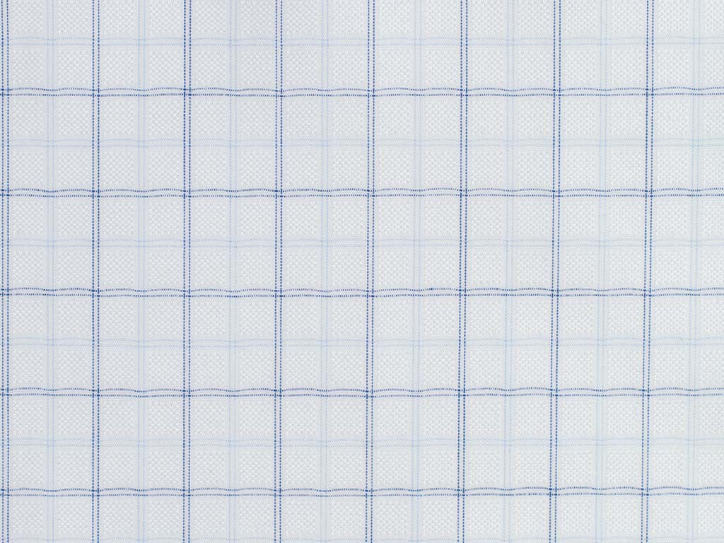 White, Blue, and Periwinkle Overchecked Cotton