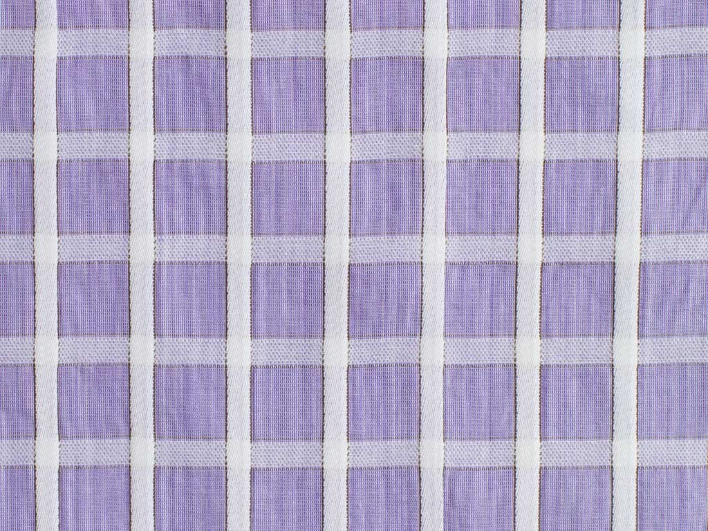 Purple and White Embossed Checked Cotton