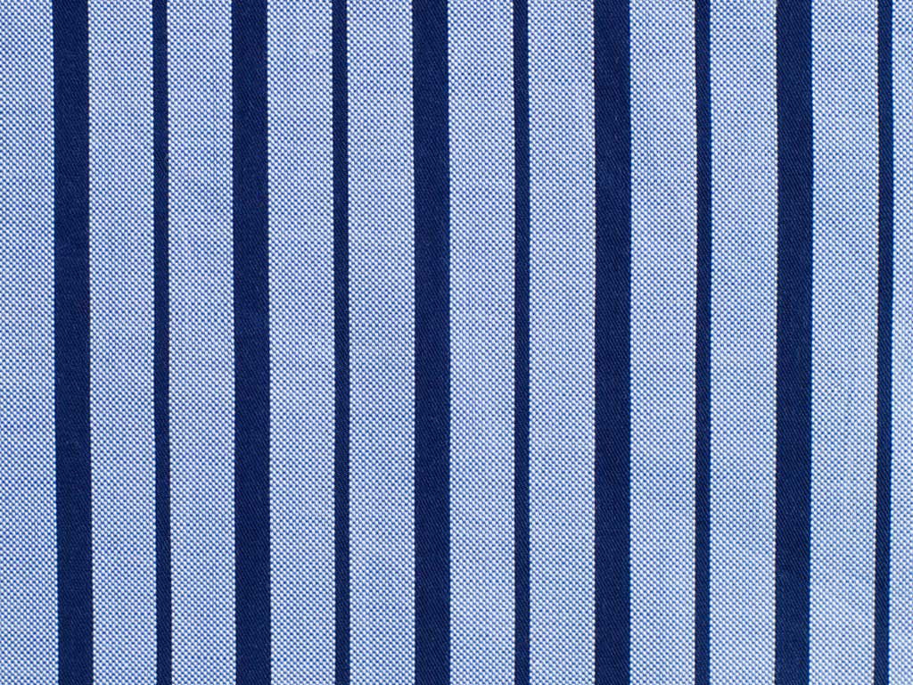 Navy Blue and Powder Blue Striped Cotton