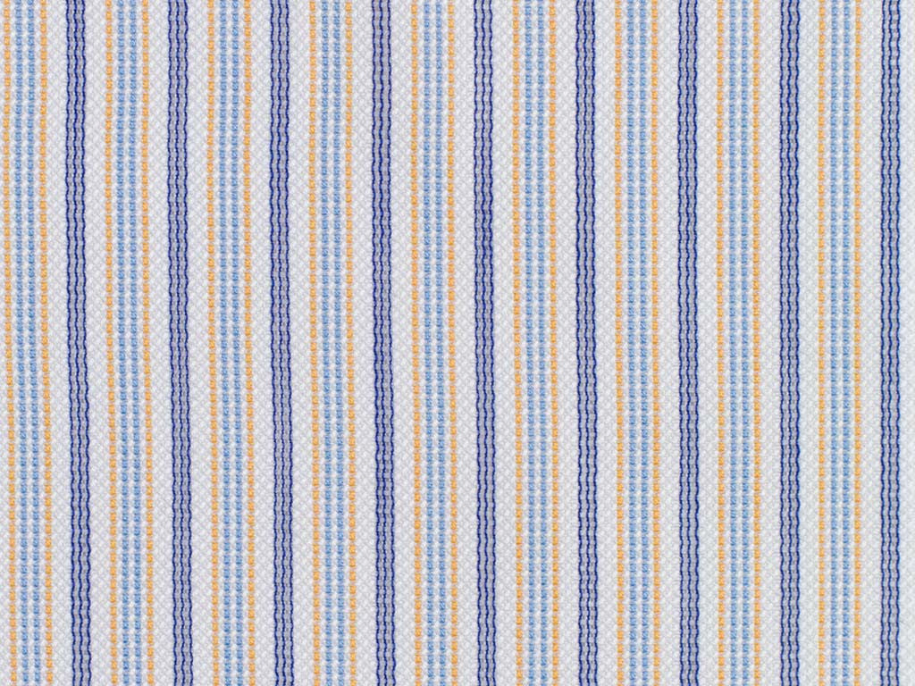 Purple, Baby Blue, White, and Melon Striped Cotton