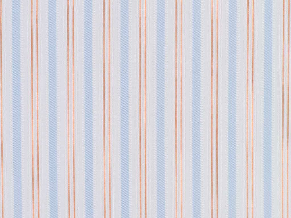 Soft Copper, Satin French blue, and Satin White Striped Cotton