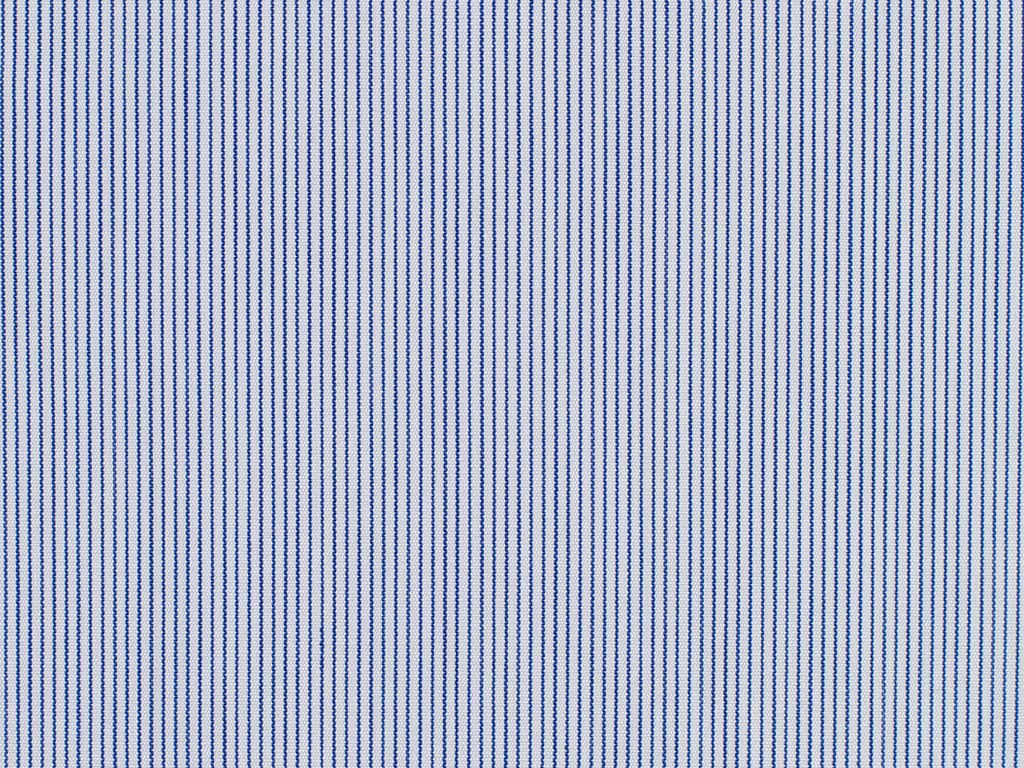 Soft Blue and Navy Blue Hairline Striped Cotton