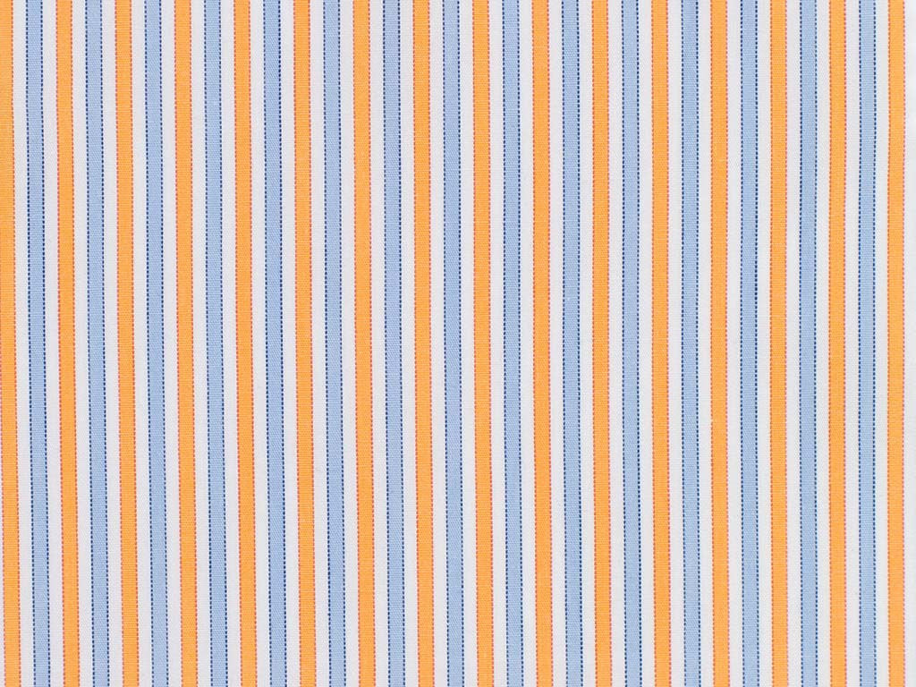 Orange, Powder Blue, and White Striped Cotton