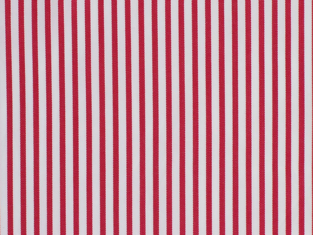 Rose and White Striped Cotton