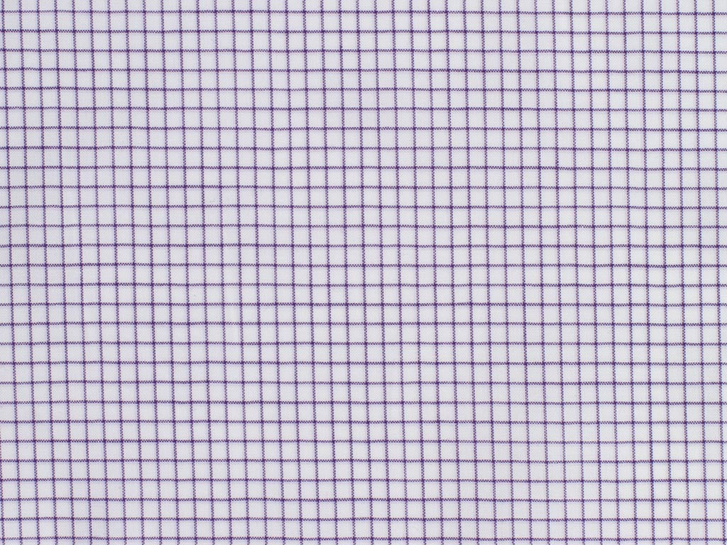 White and Purple Neat Checked Cotton