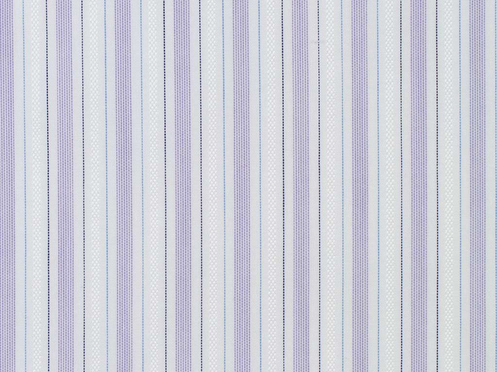 White, Black, Lilac, Light Blue, and Silver Striped Cotton