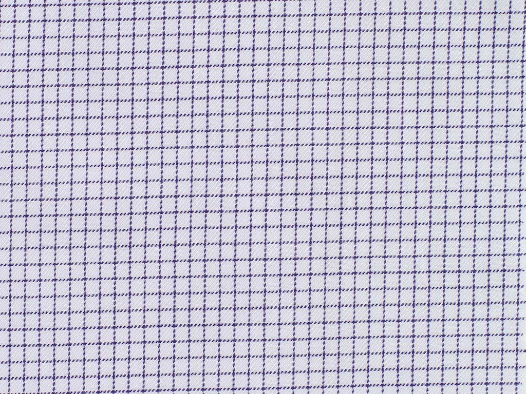 Soft Purple and Off-White Neat Checked Cotton