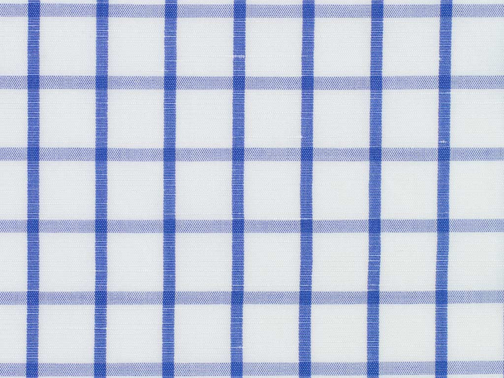 White, royal Blue, and Soft Blue Overchecked Cotton
