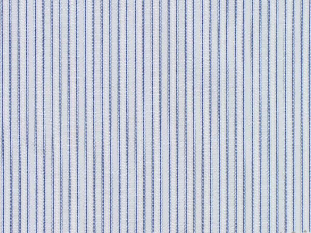 White, Grey, and Steel Blue Striped Cotton
