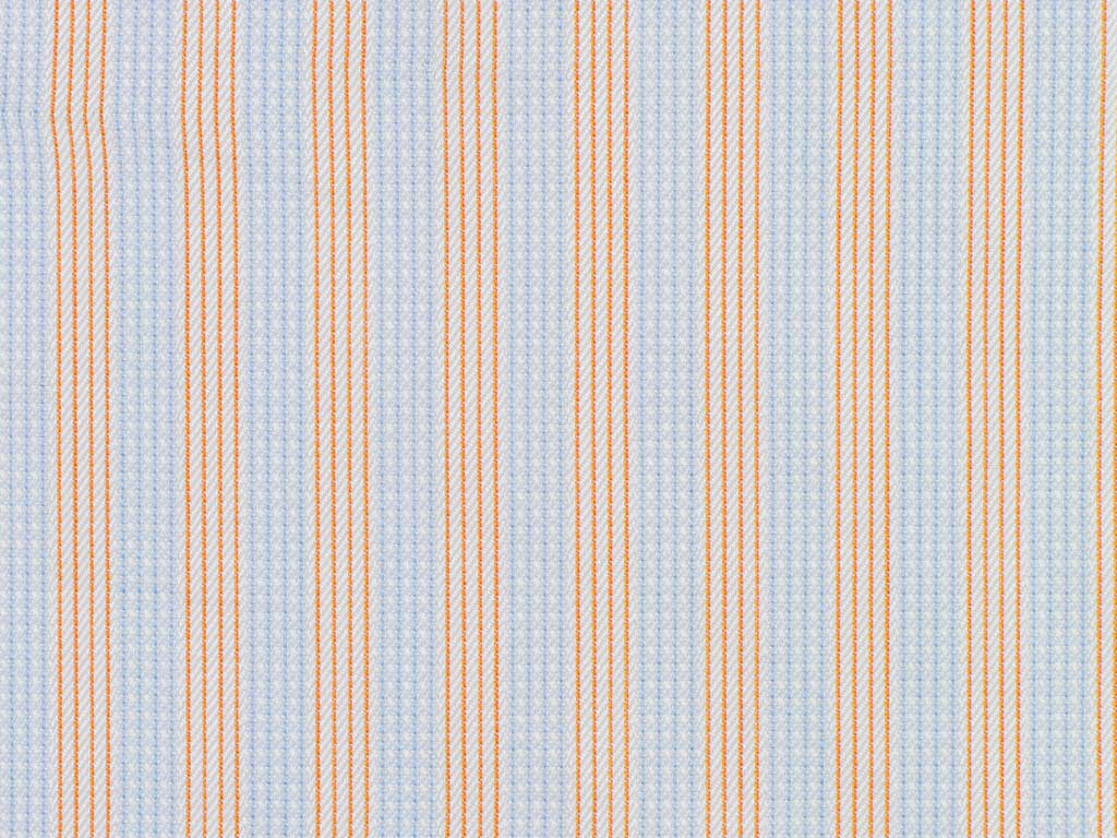 Light Blue, Orange, and Blue  Pin Dotted and Striped Cotton