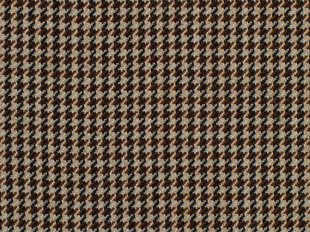 Taupe, Brown, and Black Houndstooth Patterned Wool
