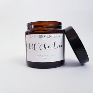 Seven Seventeen, All the Love - Black Pomegranate Scented Candle