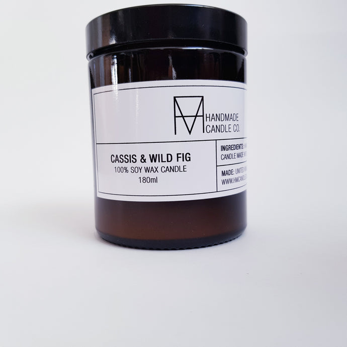 Handmade Candle Co - Cassis and Wild Fig Scented Candle