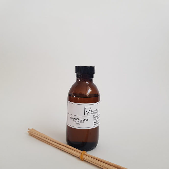 Handmade Candle Co - Rosewood and Moss Scented Reed Diffuser