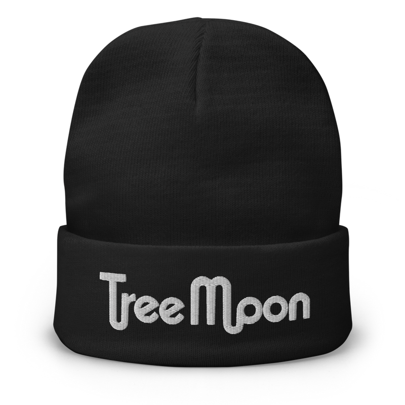 TreeMoon - Embroidered Beanie (3D Puff)