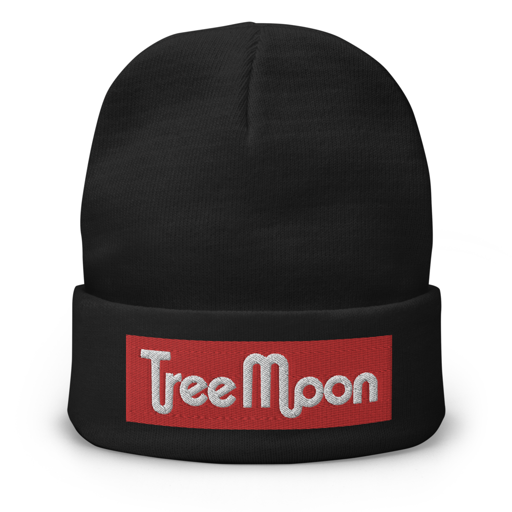Red TreeMoon - Embroidered Beanie (3D Puff)