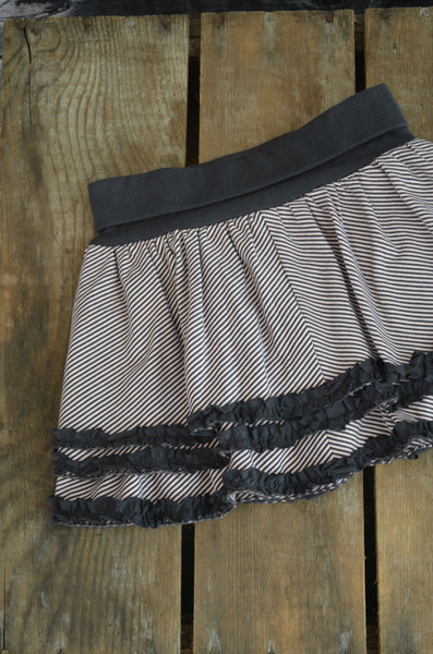 ZZ - Stripe layered skirt