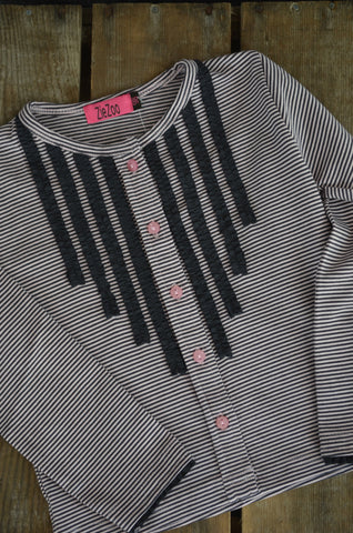 ZZ - Stripe button top