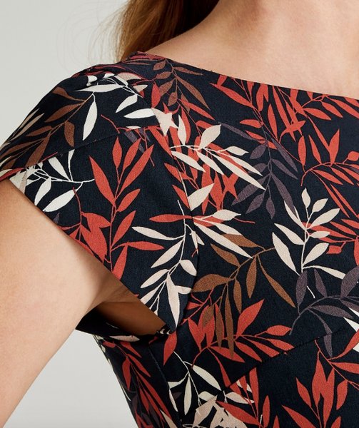 AP - Overlapping leaves dress