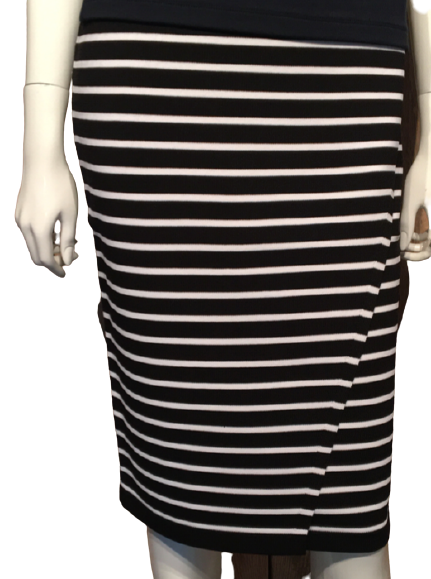 QU - wrap stripe skirt