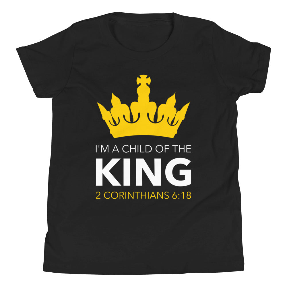 I'm a Child of the King (Yellow) - Youth Short Sleeve T-Shirt